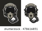 fighter pilot helmet  for dark... | Shutterstock .eps vector #478616851