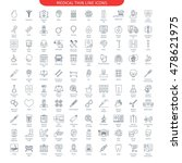 one hundred thin line icons set ... | Shutterstock .eps vector #478621975