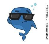 cartoon whale   Shutterstock .eps vector #478626517