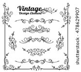 collection of decorative... | Shutterstock .eps vector #478629907
