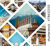 collage of india images  ... | Shutterstock . vector #478632535
