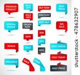 vector stickers  price tag ... | Shutterstock .eps vector #478632907
