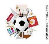 back to school activities... | Shutterstock .eps vector #478634941