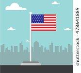 america flag flat design vector   Shutterstock .eps vector #478641889