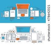 programming coding. flat... | Shutterstock . vector #478642021