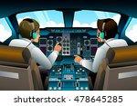 a vector illustration of pilot... | Shutterstock .eps vector #478645285
