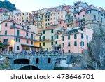 manarola. village on the rock.   Shutterstock . vector #478646701