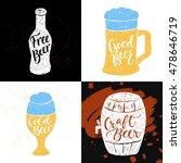 set of 4 hand lettering phrases ...   Shutterstock .eps vector #478646719