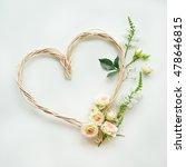 roses heads on white background....   Shutterstock . vector #478646815
