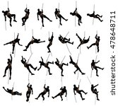 climber silhouette two color | Shutterstock .eps vector #478648711