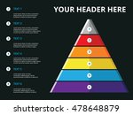 layered pyramid chart diagram... | Shutterstock .eps vector #478648879