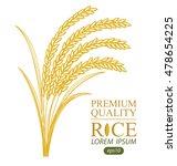 rice. vector illustration. | Shutterstock .eps vector #478654225