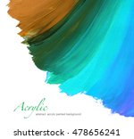 abstract acrylic hand painted... | Shutterstock . vector #478656241