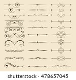 set of l decorative... | Shutterstock .eps vector #478657045