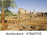 """The temple of """"Luxor"""" in Egypt - stock photo"""