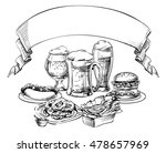 different beer mugs  glass  jar ... | Shutterstock .eps vector #478657969