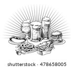 different beer mugs  glass  cup ... | Shutterstock .eps vector #478658005