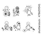 doodle hand drawn of symptoms...   Shutterstock .eps vector #478659541