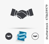 handshake sign icon. successful ...   Shutterstock .eps vector #478659979