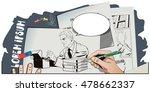 stock illustration. people in... | Shutterstock .eps vector #478662337