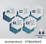 5 steps chart layout for sample ... | Shutterstock .eps vector #478664665