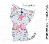 cute little cat vector... | Shutterstock .eps vector #478669921