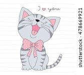 cute little cat vector... | Shutterstock .eps vector #478669921