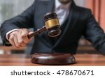 auctioneer is hitting with... | Shutterstock . vector #478670671