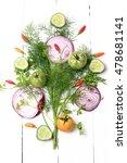 fresh organic vegetables and... | Shutterstock . vector #478681141