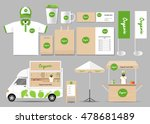 organic food  brading mock up... | Shutterstock .eps vector #478681489