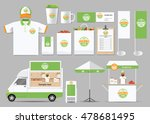 organic food  brading mock up... | Shutterstock .eps vector #478681495