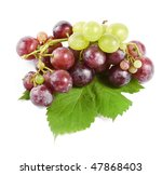 grape with leaves  isolated   Shutterstock . vector #47868403