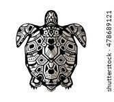 zentangle graphic turtle. hand... | Shutterstock .eps vector #478689121