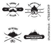 set of ski club. vintage... | Shutterstock .eps vector #478689349