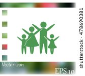 family vector icon | Shutterstock .eps vector #478690381