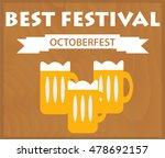 oktoberfest background with... | Shutterstock .eps vector #478692157
