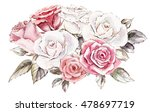 beautiful hand painted... | Shutterstock . vector #478697719