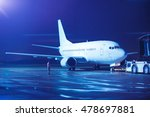 airplane docked at the terminal ... | Shutterstock . vector #478697881