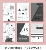 set invitation with geometric... | Shutterstock .eps vector #478699267