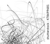 monochrome random chaotic... | Shutterstock .eps vector #478699681