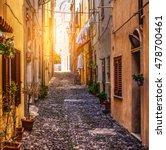 street in alghero old town ... | Shutterstock . vector #478700461