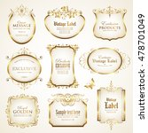 white gold framed labels | Shutterstock .eps vector #478701049