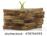 brown bread isolated on white... | Shutterstock . vector #478704595
