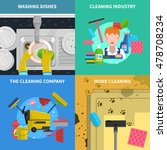 cleaning concept icons set with ... | Shutterstock . vector #478708234