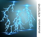 thunder storm and lightnings.... | Shutterstock .eps vector #478710745