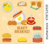 vector flat banner hearty... | Shutterstock .eps vector #478712935