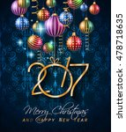 2017 happy new year background... | Shutterstock .eps vector #478718635