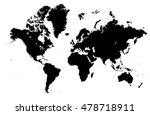 detailed map of the world... | Shutterstock .eps vector #478718911
