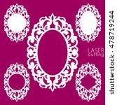 laser cut vector frame... | Shutterstock .eps vector #478719244