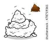 shit coloring book. turd in ... | Shutterstock . vector #478719361